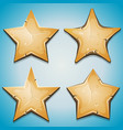 sand stars icons for ui game vector image vector image