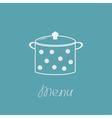 Saucepan with dots Menu cover vector image vector image
