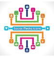 Set of Social Media Icons vector image vector image