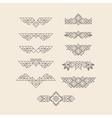 Set of Vintage Graphic Elements for Design Border vector image