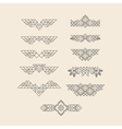 Set of Vintage Graphic Elements for Design Border vector image vector image