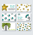 six card template - summer time vector image