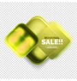 square shape sale button label tag vector image vector image