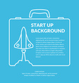 Start up background vector image