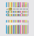 Striped credit card vector image vector image