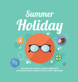summer beach night party holiday poster vector image vector image