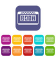 taximeter icons set vector image vector image