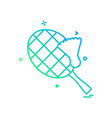 tennis icon design vector image