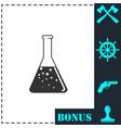 test tube icon flat vector image