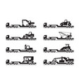 transportation of construction machinery vector image vector image