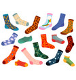 trendy socks stylish woolen and cotton sock vector image