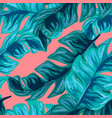 tropical seamless pattern with banana leaves vector image vector image