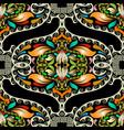 vintage ornamental colorful paisley greek vector image