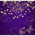 Violet grunge valentine frame vector image vector image