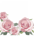 Watercolor Pink Rose isolated vector image vector image