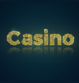 word casino of gold mosaic vector image