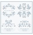Set elements flower logos Baroque style vector image
