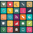 Design Flat icons for Web and Mobile vector image
