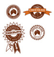 set of vintage badge label logo template vector image