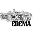 acute edema and back pain text word cloud concept vector image vector image