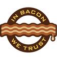Bacon Symbol vector image vector image