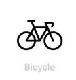 bicycle icon editable stroke vector image