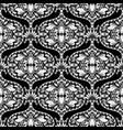 black and white oriental style floral paisley vector image vector image