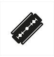 blade razor icon on white vector image vector image
