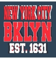 Broolklyn New York vintage stamp vector image vector image