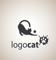 cat logo 2 vector image vector image