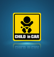 child in car banner vector image