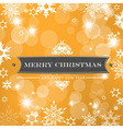 christmas orange background vector image