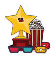 cinema and movies concept vector image vector image