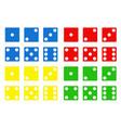 color dice vector image vector image