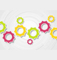 colorful tech gears communication vector image vector image
