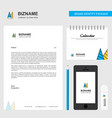 cone cap business letterhead calendar 2019 and vector image