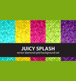 diamond pattern set juicy splash seamless vector image vector image