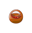 flat cartoon basket with strawberry vector image