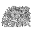 Floral doodles vector image vector image