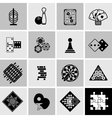 Games Black Icons Set vector image
