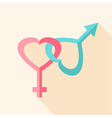Gender hearts signs vector image