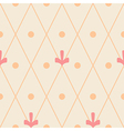 Geometric ornamental seamless pattern on beige vector image vector image