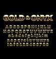 golden black luxurious type vector image