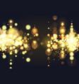 golden bokeh sparkle glitter lights background vector image vector image