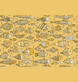 golden fish seamless pattern sketch for your vector image vector image