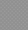 Gray ornament with white and black mosaic crosses vector image