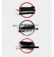 grunge motorcycle tire el-05 vector image vector image