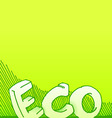 handmade eco background vector image vector image