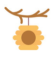 hanging bee hive branch tree vector image