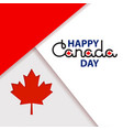 happy canada day lettering isolated on white vector image